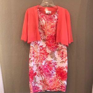 Studio I Dresses - Studio I Petite Orange & Pink Floral Dress
